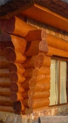 Дома из оцелиндрованного бревна